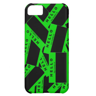 Merhaba Ebony (Lime) iPhone Case