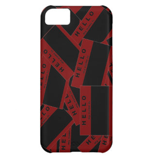 Merhaba Ebony (Red) iPhone Case