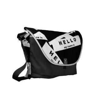 Merhaba Ebony (White) Messenger Bag
