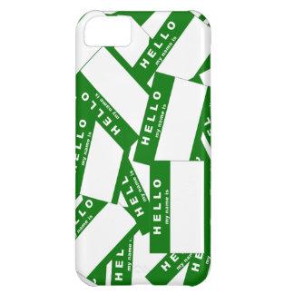 Merhaba Ivory (Green) iPhone Case