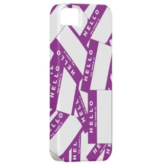 Merhaba Ivory (Purple) iPhone Case