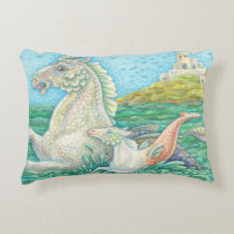 Merhorse Bay - Sea Horse Family ACCENT PILLOW