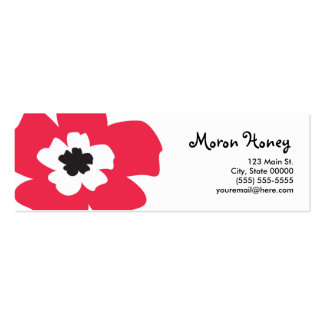 Meri Skinny Profile Card Business Card Templates