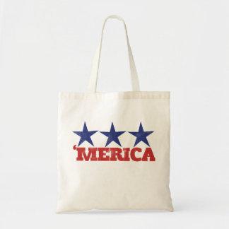 merica 4th of july tote bag