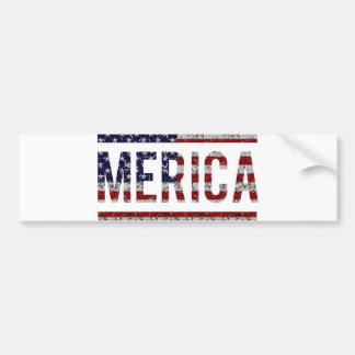 MERICA - American Pride Slang USA Flag Bumper Sticker
