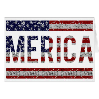 MERICA - American Pride Slang USA Flag Greeting Card