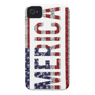 MERICA - American Pride Slang USA Flag iPhone 4 Case-Mate Cases
