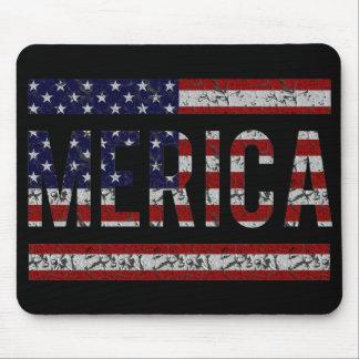 MERICA - American Pride Slang USA Flag Mouse Pad
