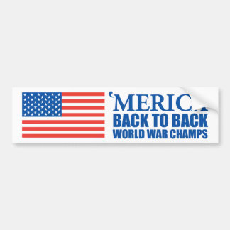 Merica Back to Back World War Champs Sticker