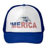 'MERICA Bald Eagle U.S. Flag Hat (blue)