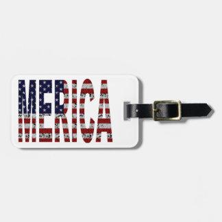 MERICA - Bandera americana de los E E U U del arg Etiqueta Para Maleta