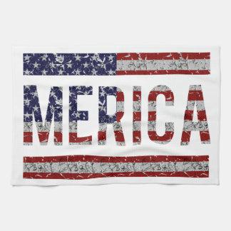 MERICA - Bandera americana de los E.E.U.U. del arg Toalla