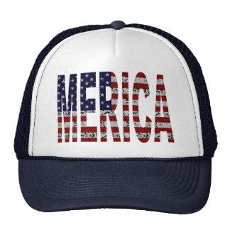 'MERICA - Bandera de los E.E.U.U. del Grunge Gorras