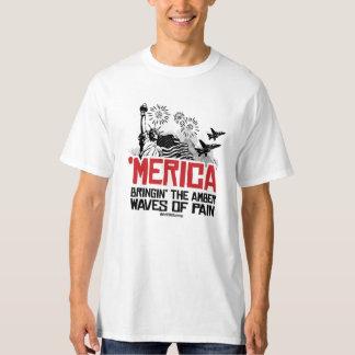 """""""Merica - Bringin"""" las ondas ambarinas del dolor Playera"""