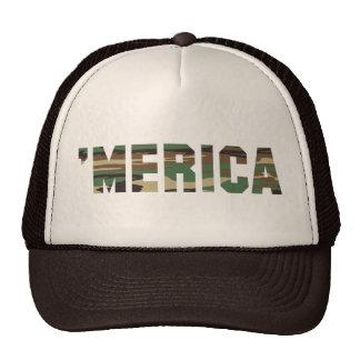 MERICA Camo Font Trucker Hat