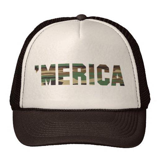 'MERICA Camo Font Trucker Hat