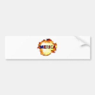 'MERICA CAR BUMPER STICKER