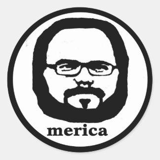 Merica Classic Round Sticker