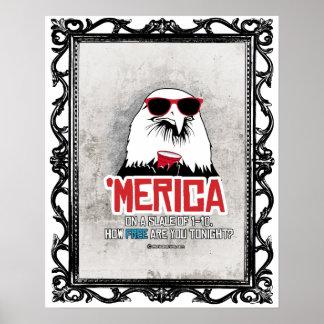 Merica - cómo es libre está usted esta noche póster