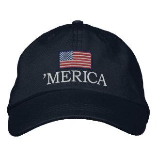 Merica - con la bandera de los E E U U Gorra De Beisbol