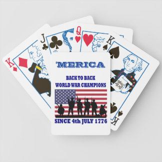 Merica, de nuevo a campeones traseros del mundo cartas de juego
