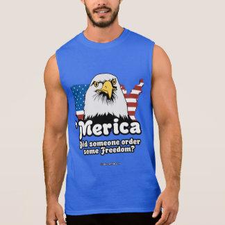 'Merica - Did Someone Order Some Freedom Sleeveless Shirt