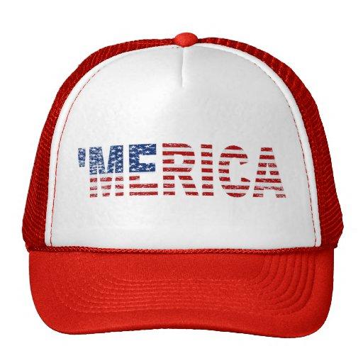 'MERICA Distressed US Flag Hat