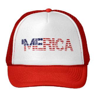 'MERICA Distressed US Flag Mesh Hat