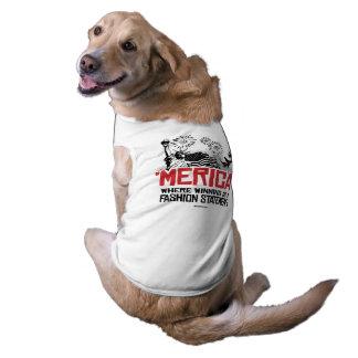 'Merica - donde está una declaración el ganar de Playera Sin Mangas Para Perro