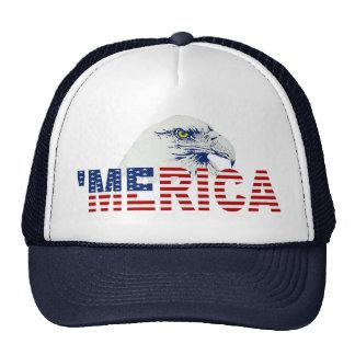 'MERICA Eagle US Flag Trucker Hat