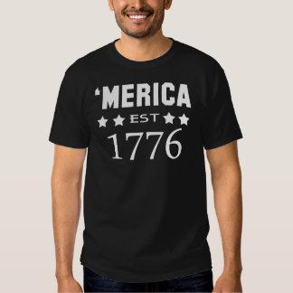 MERICA EST.1776 TEE SHIRTS