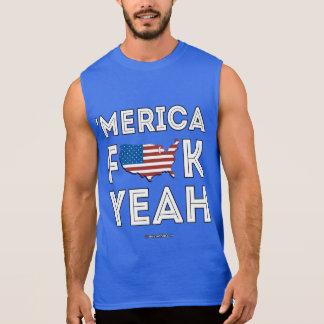 Merica - F yeah Sleeveless Shirt