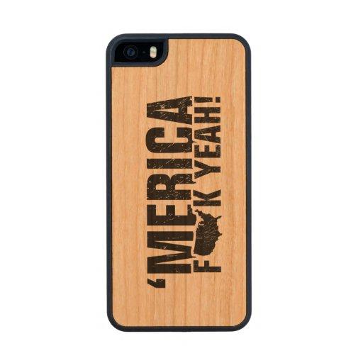 'Merica Fck Yeah! Carved® Cherry iPhone 5 Slim Case