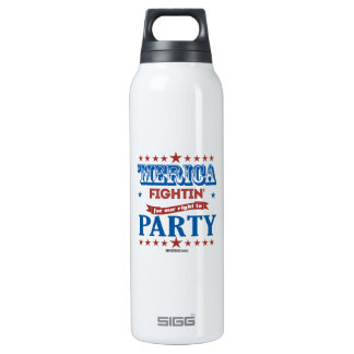 'Merica - Fightin for our right to party 16 Oz Insulated SIGG Thermos Water Bottle