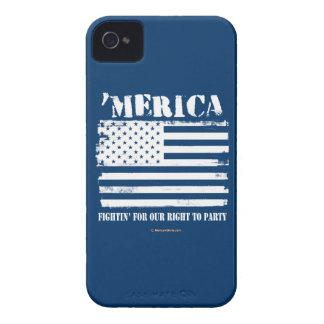 """""""Merica - Fightin"""" para que la nuestra derecha Case-Mate iPhone 4 Protector"""