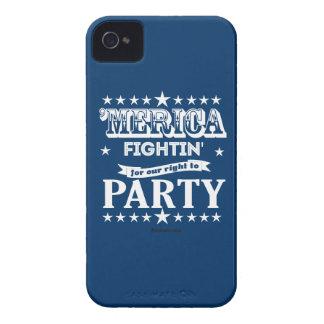 'Merica - Fightin para que la nuestra derecha vaya Case-Mate iPhone 4 Coberturas
