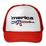 Merica Flag Rifle Trucker Hat