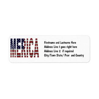 'MERICA - Grunge USA Flag Label