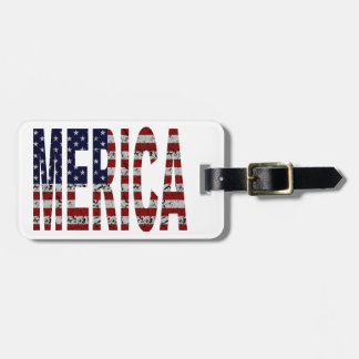 MERICA - Grunge USA Flag Tag For Bags