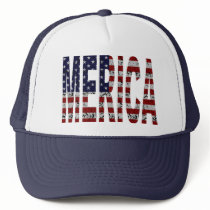 'MERICA - Grunge USA Flag Trucker Hat