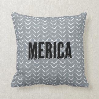 Merica gun chevron pattern throw pillow