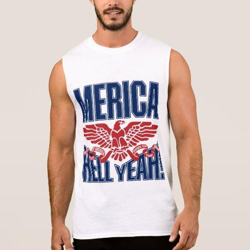 MERICA Hell Yeah Sleeveless Shirt