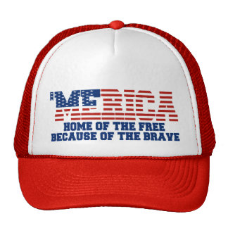 'MERICA Home Of The Free Because Of The Brave Hat