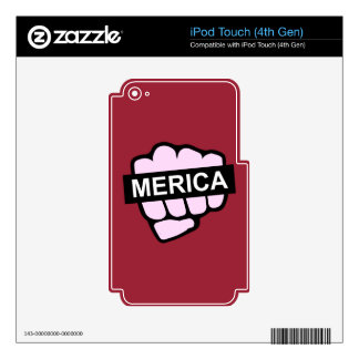 Merica in Your Face Skins For iPod Touch 4G