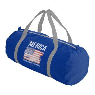 'Merica - Kickin A and Takin Names Gym Duffel Bag