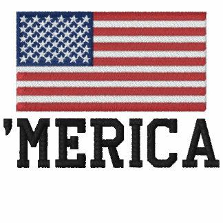 'MERICA LOS E.E.U.U. protagoniza 'el bordado de la Camiseta Polo Bordada