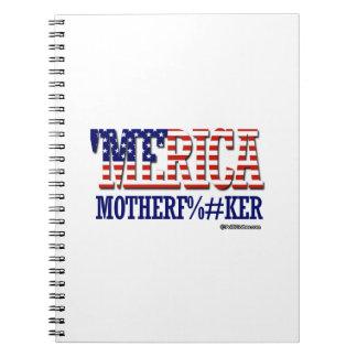 'Merica - Mother F -er Spiral Notebook