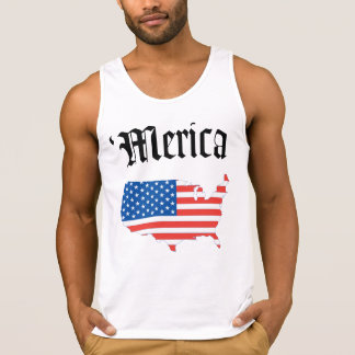 Merica Old English Letters Tank