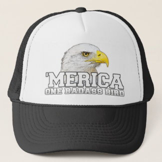 'MERICA One Badass Bird Trucker Hat