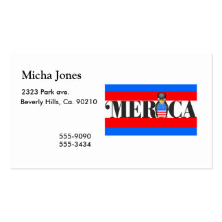 Merica & One Upset Patriotic Penguin Double-Sided Standard Business Cards (Pack Of 100)